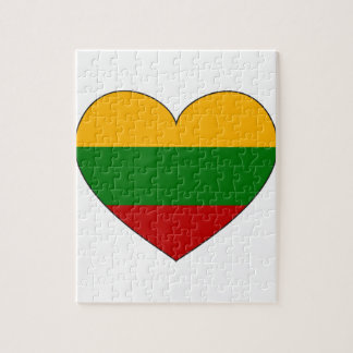 Lithuania Flag Simple Puzzles