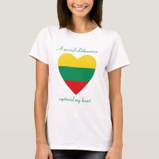 Lithuania Flag Sweetheart T-Shirt