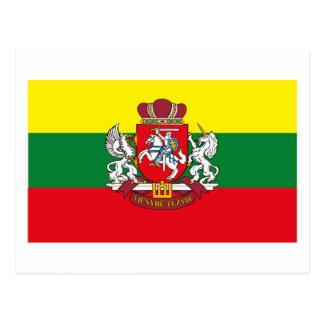 Lithuania Flag w COA Postcard