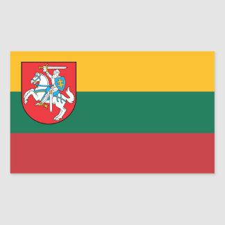 Lithuania Flag with Vytis