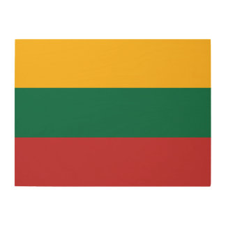 Lithuania Flag Wood Wall Decor