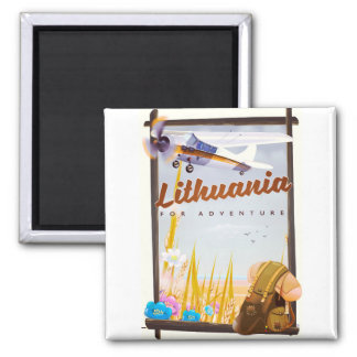 lithuania - For an adventure travel poster Magnet