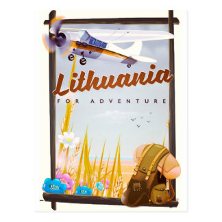 lithuania - For an adventure travel poster Postcard