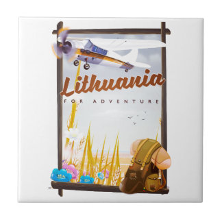lithuania - For an adventure travel poster Tile