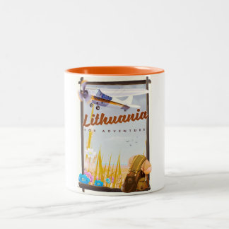 lithuania - For an adventure travel poster Two-Tone Coffee Mug