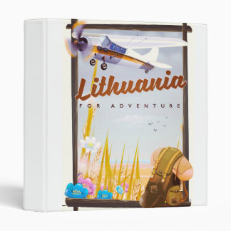 lithuania - For an adventure travel poster Vinyl Binder
