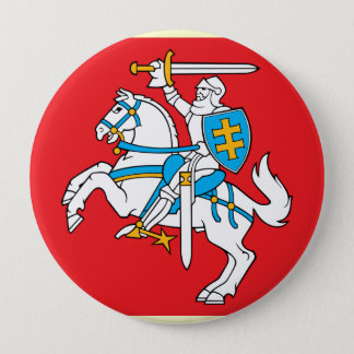 Lithuania , Lithuania 4 Inch Round Button