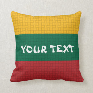 Lithuania Lithuanian Flag: ADD TEXT Throw Pillow