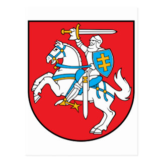 Lithuania Official Coat Of Arms Heraldry Symbol Postcard