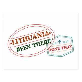 LITHUANIA POSTCARD