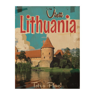 Lithuania Vintage Travel Poster