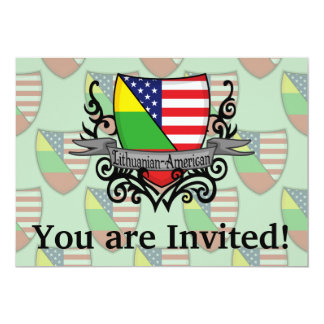 Lithuanian-American Shield Flag Card