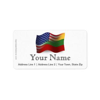 Lithuanian-American Waving Flag