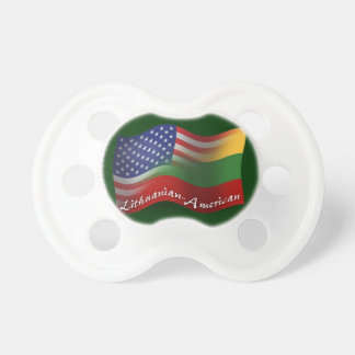 Lithuanian-American Waving Flag Baby Pacifiers