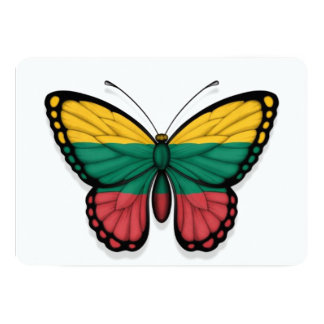 Lithuanian Butterfly Flag Card