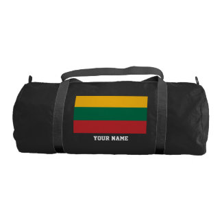 Lithuanian flag gym bag