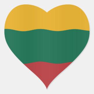 Lithuanian flag heart sticker