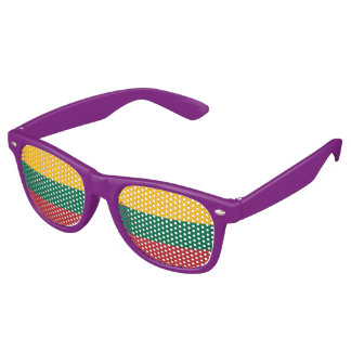 Lithuanian Flag Retro Party Shades