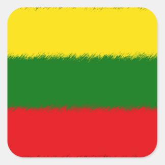 Lithuanian Flag Square Sticker