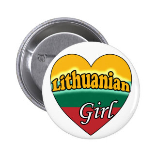 Lithuanian Girl 2 Inch Round Button