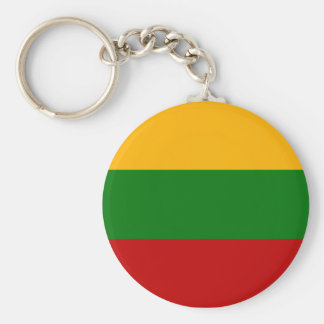 Lithuanian Pride Basic Round Button Keychain