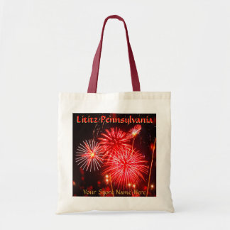 Lititz 4th of July Fireworks Tote! Add Store Name Budget Tote Bag