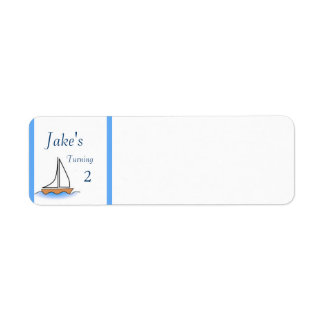 Litte Sailboat Nautical Birthday