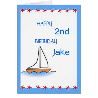 Litte Sailboat Nautical Birthday Card