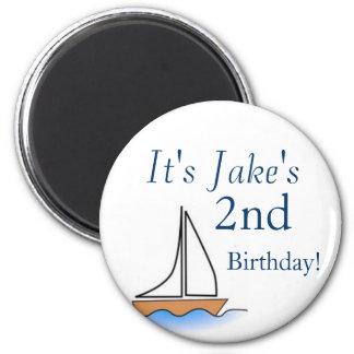 Litte Sailboat Nautical Birthday Magnet