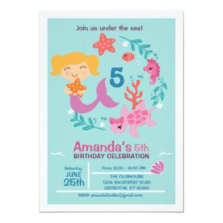 Littel Mermaid Birthday Party Invitation