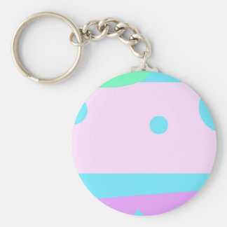 Little Abstract Monster or Abstract landscape Basic Round Button Keychain