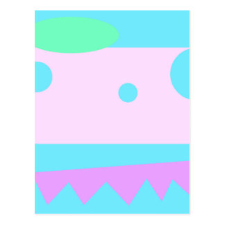 Little Abstract Monster - Postcard