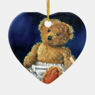 Little Acorn, a Favourite Teddy Ceramic Heart Ornament