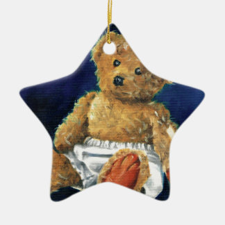 Little Acorn, a Favourite Teddy Ceramic Star Ornament