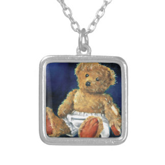 Little Acorn, a Favourite Teddy Silver Plated Necklace