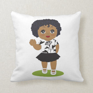 Little African American Doll Pillow