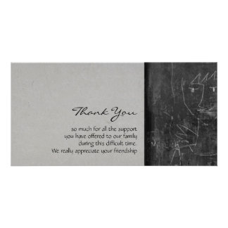 Little Angel 1 Child Drawing Sympathy Thank You Custom Photo Card