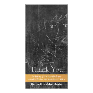Little Angel 5 Child Drawing Sympathy Thank You Photo Cards