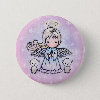 Little Angel and Polar Bears Pinback Button