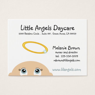 little angel DAYCARE or BOUTIQUE business card
