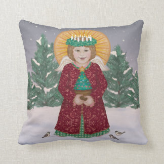 Little Angel in the Snow Pillow