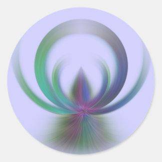 Little Angel Round Sticker