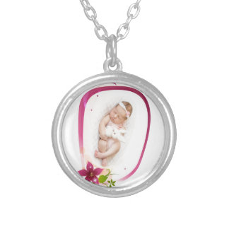 Little Angel Sleeping 041 Silver Plated Necklace