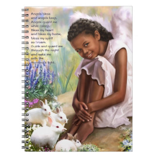 Little Angel with Bunnies Easter Gift Notebook