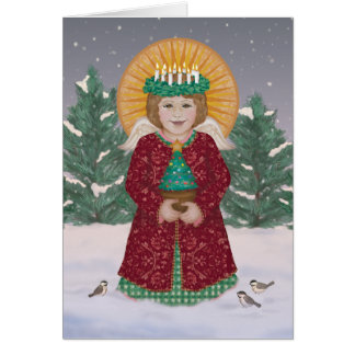 Little Angel with Crown of Candles Card