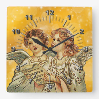 Little Angels Square Wall Clock