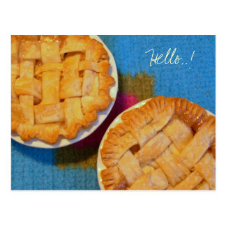 Little Apple Pies Blank Postcard