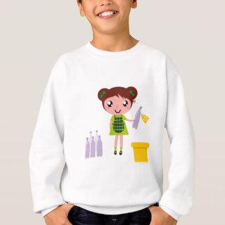 Little artistic girl with Bottle Sweatshirt