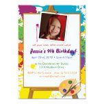 "Little Artist's Birthday 5"" X 7"" Invitation Card"