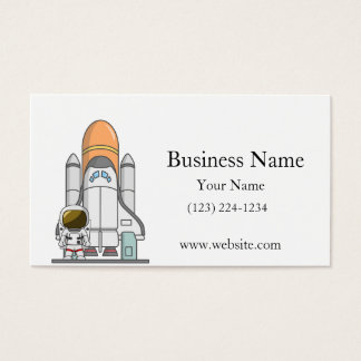 Little Astronaut & Spaceship Business Card